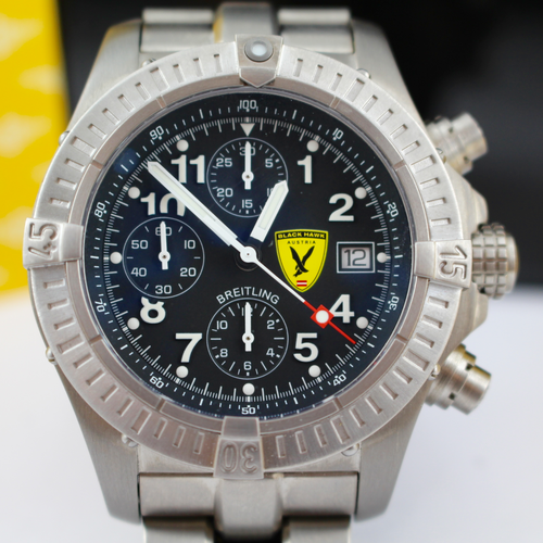Seltener Breitling Black Hawk Chrono FULL SET